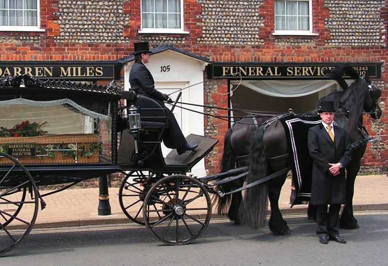Darren Miles Funeral Service horse drawn hearse